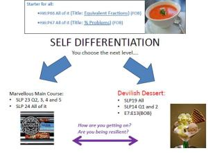 Mini-teachmeet 2 - Self Differentiation